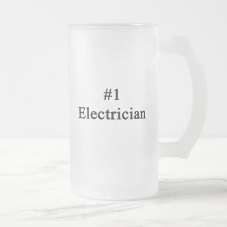 Number 1 Electrician Frosted Beer Mug