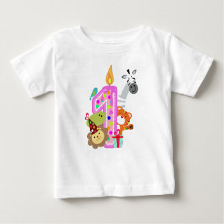 number 1 first birthday t-shirt for kids