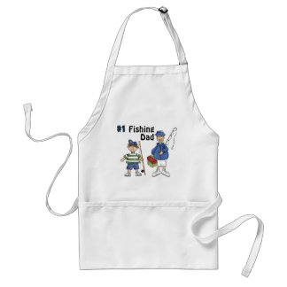 Number #1 Fishing Dad Adult Apron