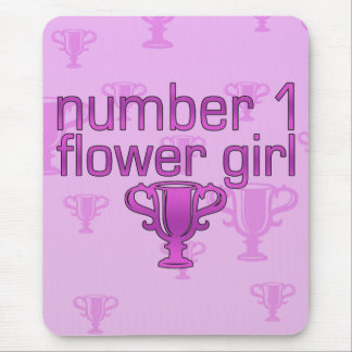 Number 1 Flower Girl Mouse Pad