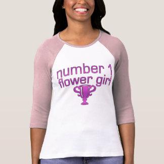Number 1 Flower Girl Tee Shirt
