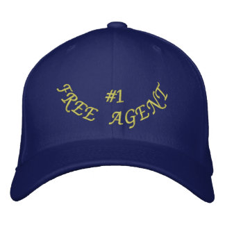Number 1 Free Agent Embroidered Baseball Cap