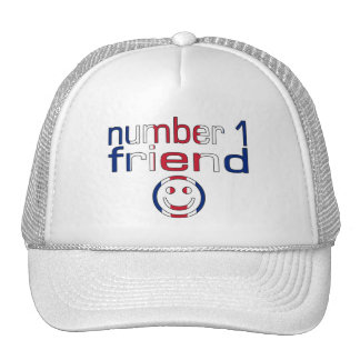 Number 1 Friend in British Flag Colors for Boys Trucker Hat