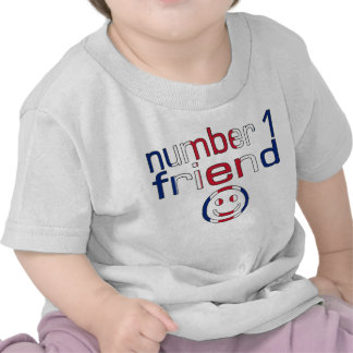 Number 1 Friend in British Flag Colors for Boys Tee Shirts