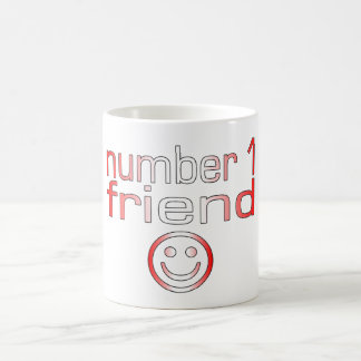 Number 1 Friend in Canadian Flag Colors for Boys Coffee Mug