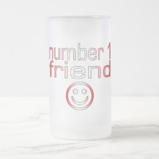 Number 1 Friend in Canadian Flag Colors for Girls Mugs