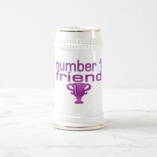 Number 1 Friend in Pink Mugs