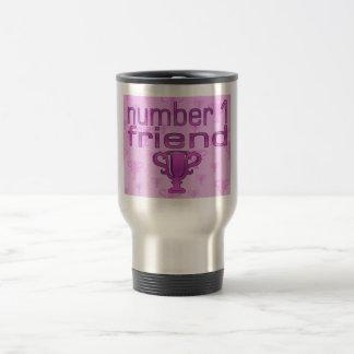 Number 1 Friend in Pink Coffee Mug