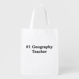 Number 1 Geography Teacher Grocery Bag