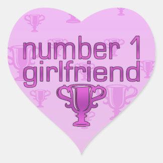 Number 1 Girlfriend Heart Sticker