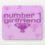 Number 1 Girlfriend Mousepads