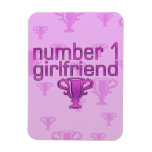 Number 1 Girlfriend Rectangle Magnet