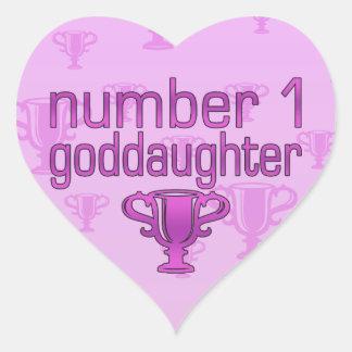 Number 1 Goddaughter Heart Sticker