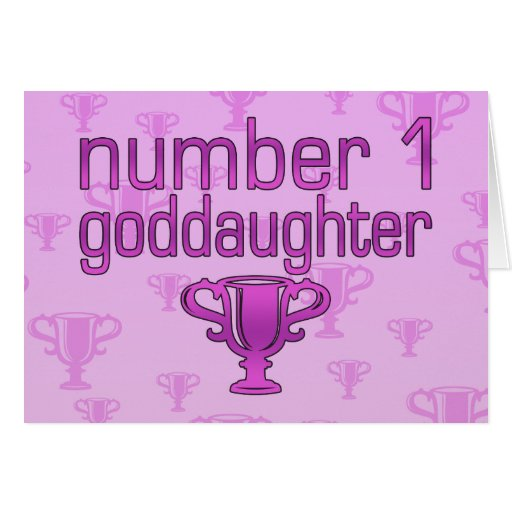 Number 1 Goddaughter Stationery Note Card
