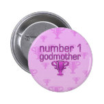 Number 1 Godmother Buttons