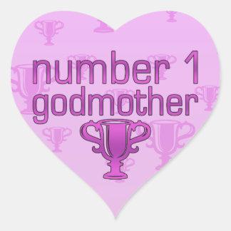 Number 1 Godmother Heart Sticker