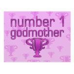 Number 1 Godmother Postcard