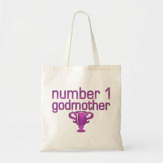 Number 1 Godmother Tote Bag