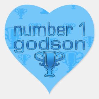 Number 1 Godson Heart Sticker