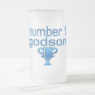 Number 1 Godson 16 Oz Frosted Glass Beer Mug