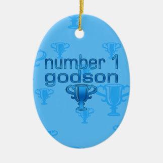 Number 1 Godson Ornament