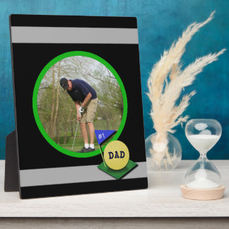 Number 1 Golf Dad Custom Photo Photo Plaque