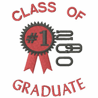 Number 1 Grad Graduation  Embroidered