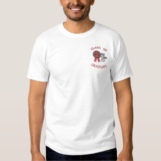 Number 1 Grad Graduation  Embroidered Embroidered T-Shirt
