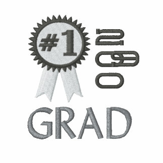 Number 1 Grad Graduation  Embroidered Polo