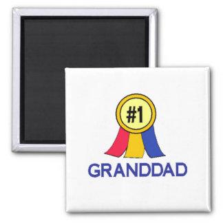 Number 1 Granddad - Ribbon Magnets