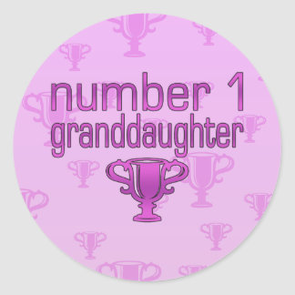 Number 1 Granddaughter Classic Round Sticker