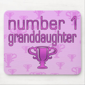 Number 1 Granddaughter Mouse Pad