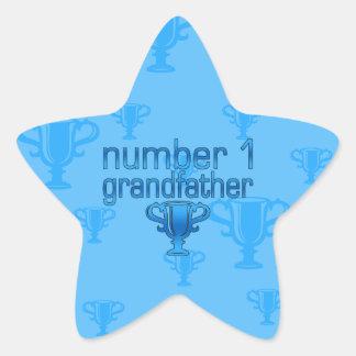 Number 1 Grandfather Star Sticker