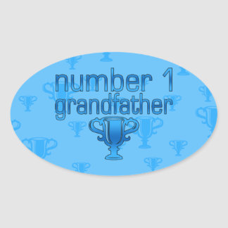 Number 1 Grandfather Oval Sticker