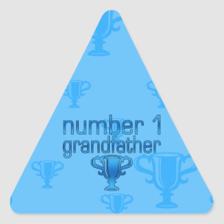 Number 1 Grandfather Triangle Stickers