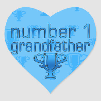Number 1 Grandfather Heart Stickers