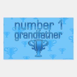 Number 1 Grandfather Rectangular Sticker