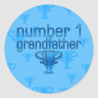 Number 1 Grandfather Round Stickers
