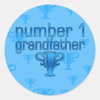 Number 1 Grandfather Round Sticker