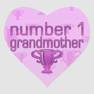 Number 1 Grandmother Heart Sticker
