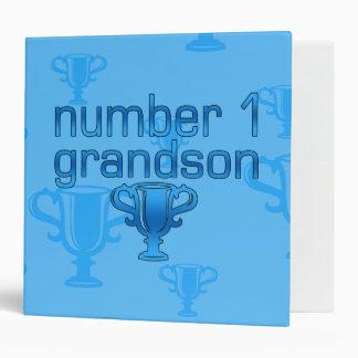 Number 1 Grandson Vinyl Binder