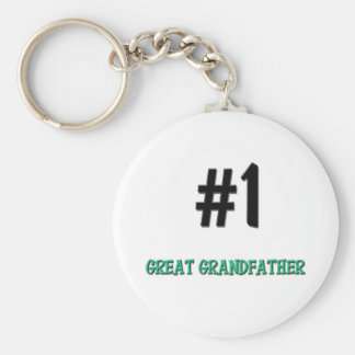Number 1 Great Grandfather Keychain