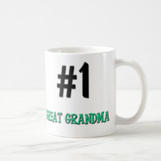 Number 1 Great Grandma Classic White Coffee Mug