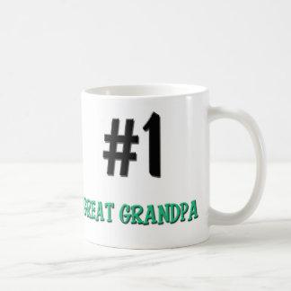 Number 1 Great Grandpa Classic White Coffee Mug