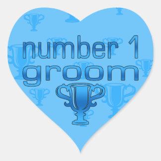 Number 1 Groom Heart Sticker