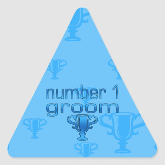 Number 1 Groom Triangle Sticker
