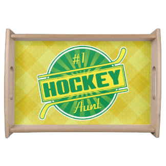Number 1 Hockey Aunt Serving Tray