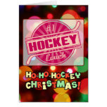 Number 1 Hockey Coach Red Christmas Card