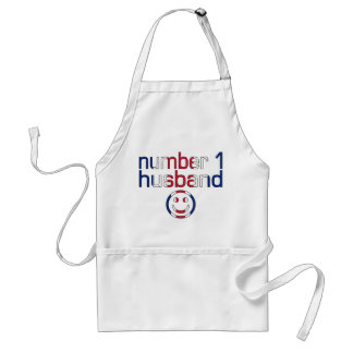 Number 1 Husband ( Husband's Birthday ) Adult Apron