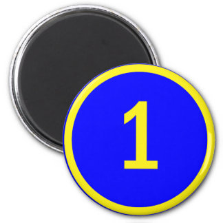 number 1 in a circle magnet
